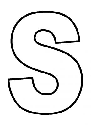 bubble letter capital s Colouring Pages | Coloring Pages Galleries