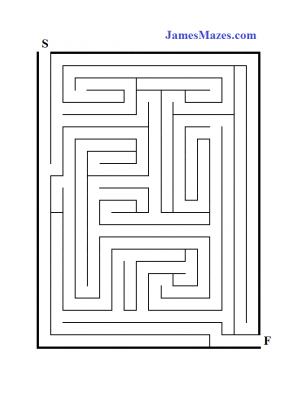 graphic relating to Printable Mazes Medium identified as Medium Mazes - Medium Printable Maze for Youngsters - James Mazes